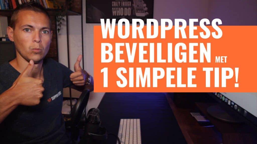 WordPress beveiliging met 1 simpele tip 1