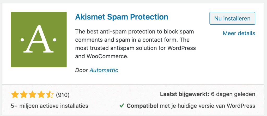 Spamreacties stoppen in WordPress 2
